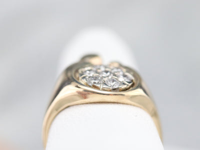 Mother and Child Diamond Cluster Ring