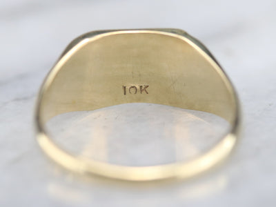 Vintage Yellow Gold Signet Ring