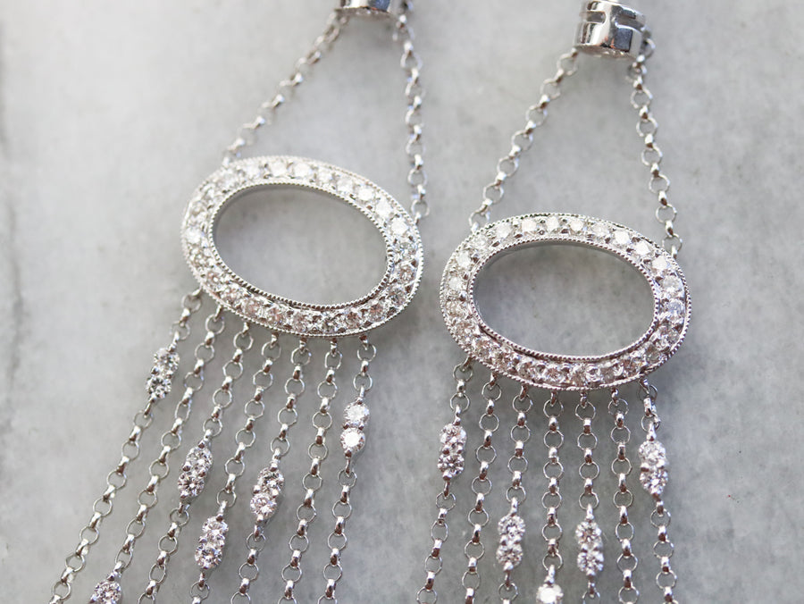 Glamorous Diamond Chandelier Drop Earrings