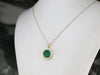 Green Quartz Diamond Halo Pendant