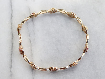 Diamond and Ruby Gold Bracelet