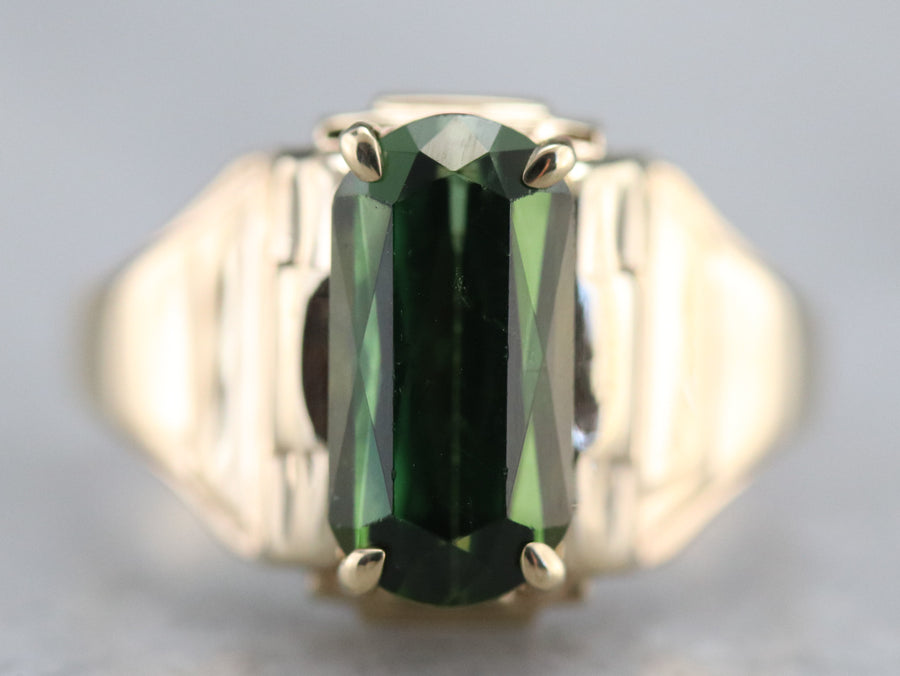 Green Tourmaline Statement Ring