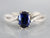 Sapphire Twisting Diamond Engagement Ring