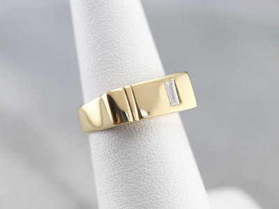 Minimalist Baguette Diamond Ring