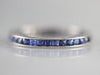 Art Deco Sapphire White Gold Wedding Band