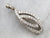 White Gold and Diamond Ribbon Pendant