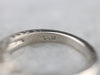 Engraved Three Stone Diamond Band