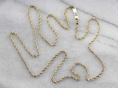 Gold Twisted Rope Chain Necklace