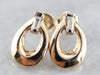 Baguette Diamond Gold Loop Earrings
