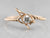 Antique Old Mine Cut Diamond Wishbone Ring