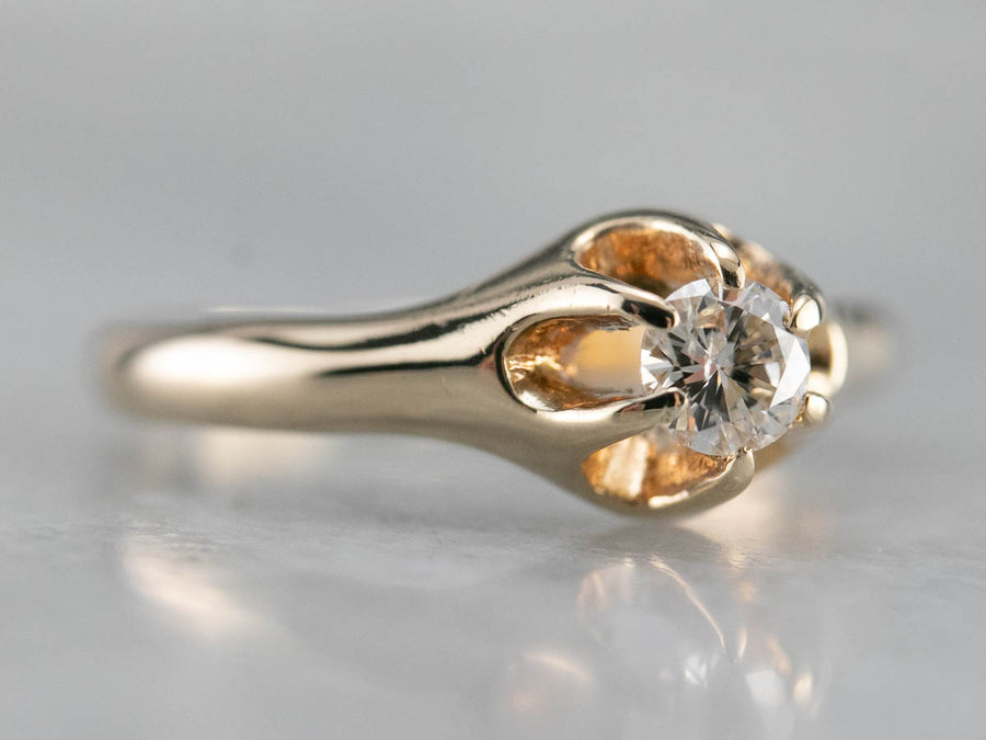 Buttercup Diamond Solitaire Ring