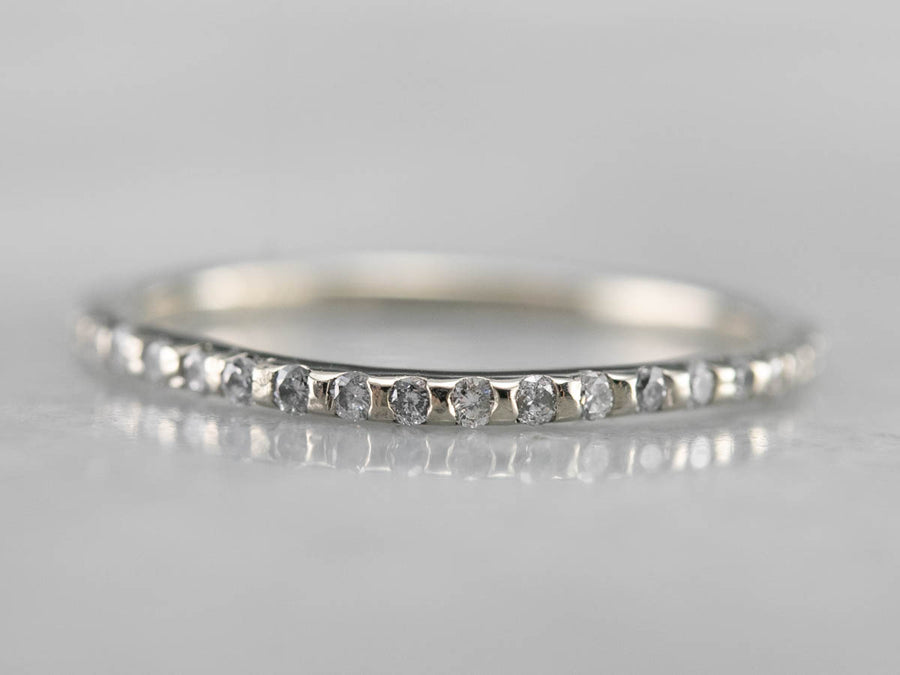 Thin Diamond White Gold Band