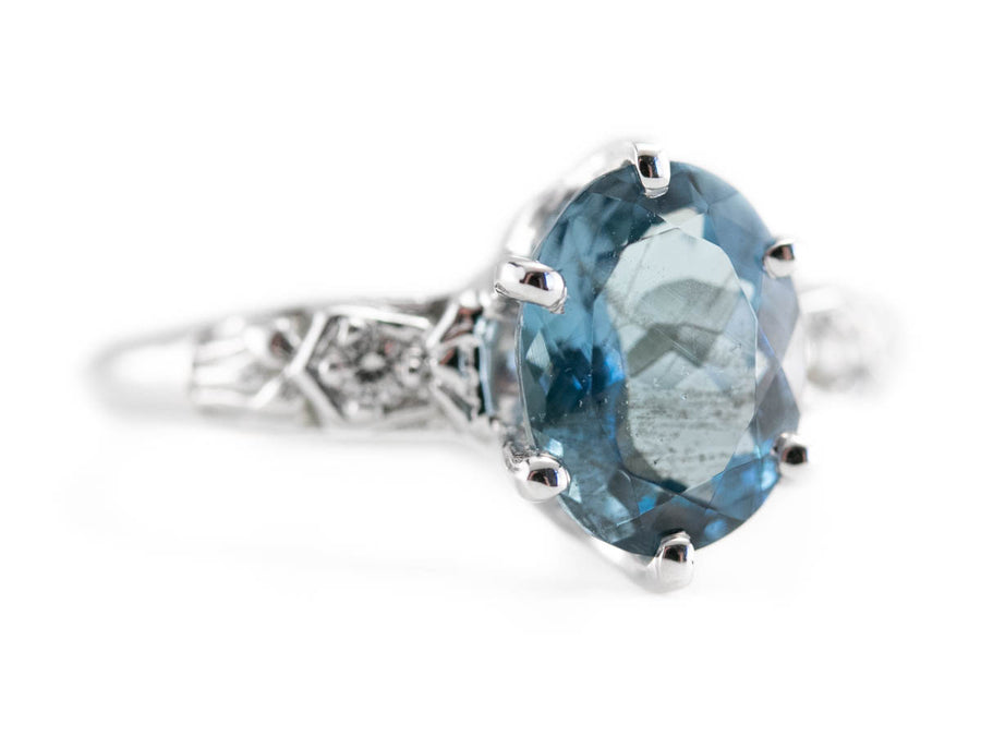 The Currier Indian Aquamarine and Diamond Ring by Elizabeth Henry