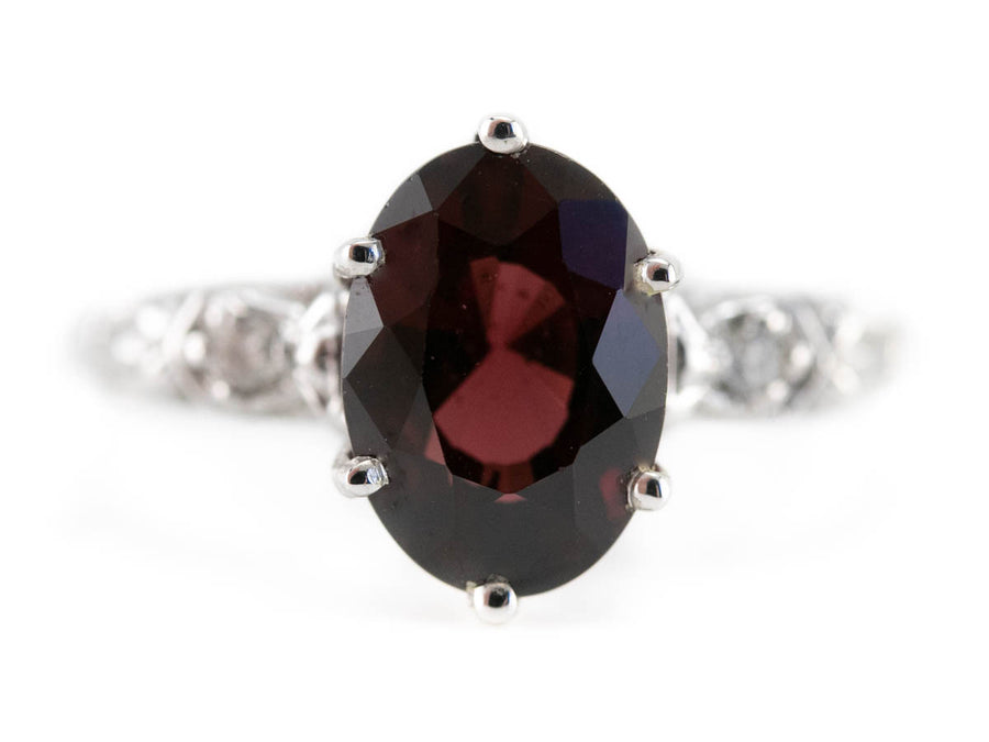 The Currier Garnet and Diamond Ring by Elizabeth Henry
