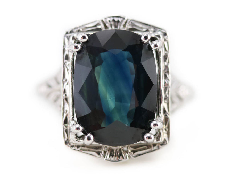 The Zelda Sapphire Statement Ring by Elizabeth Henry