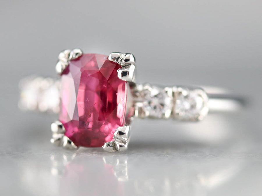 Amazing Platinum Ruby and Diamond Ring