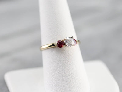GIA Diamond and Ruby Ring