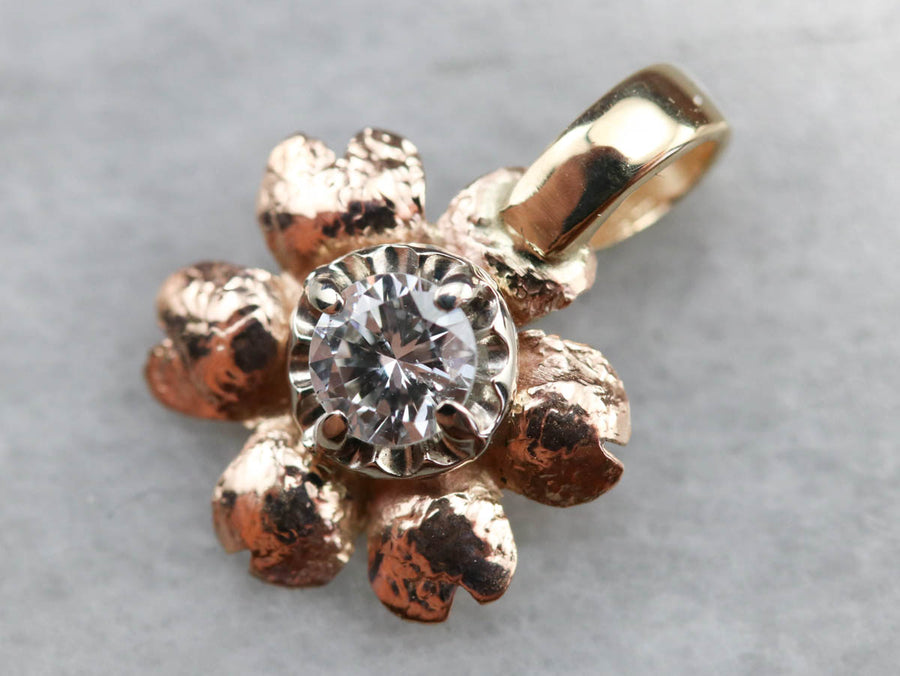 Sweet Diamond Flower Pendant