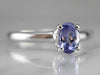 Tanzanite White Gold Solitaire Ring