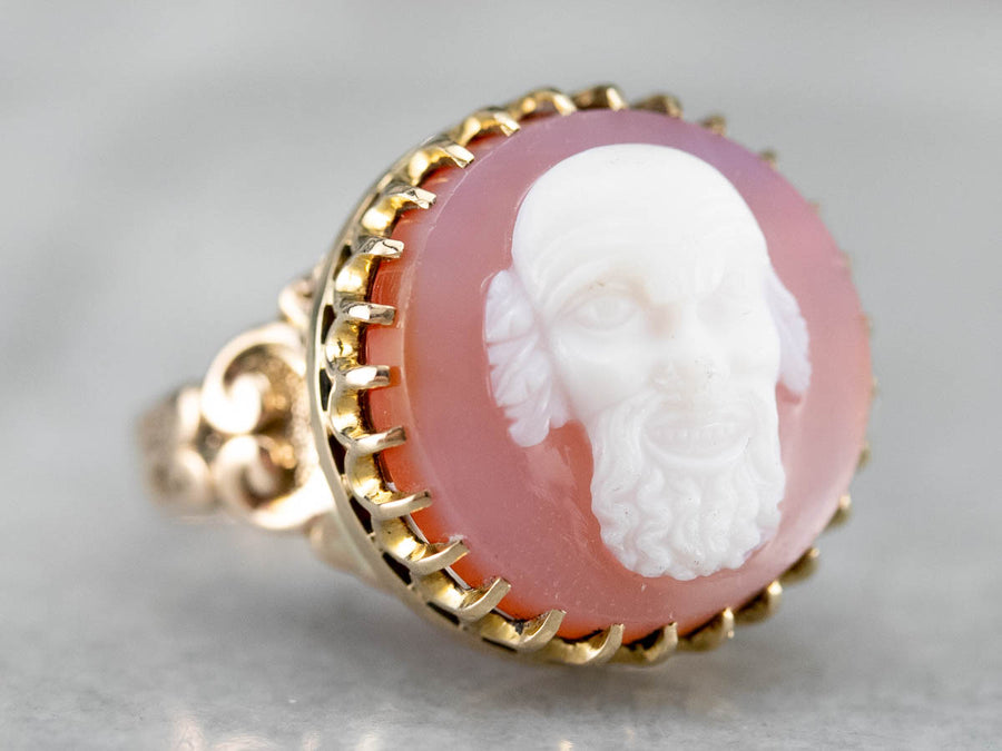 Victorian Era Greenman Cameo Ring