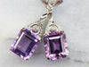Amethyst Diamond Drop Earrings