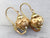 Scrolling Gold Ball Drop Earrings