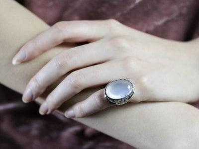 High Profile Moonstone Cocktail Ring