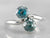 Blue Zircon Sterling Silver Bypass Ring