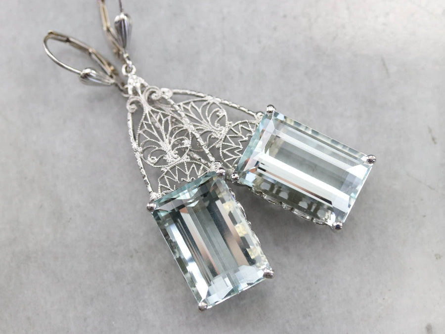Gorgeous Aquamarine Drop Earrings