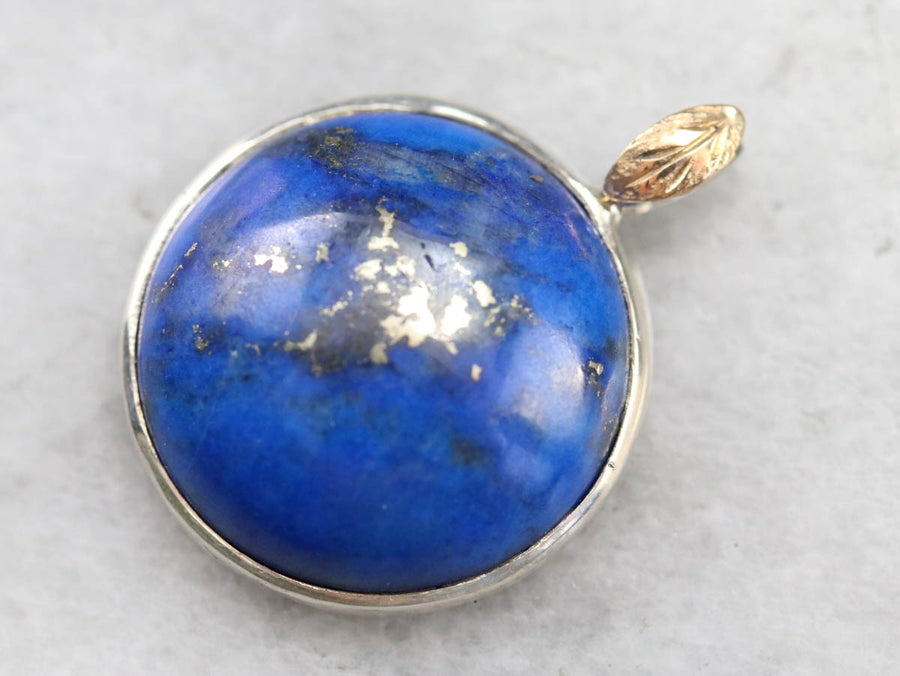 Mixed Metal Lapis Pendant