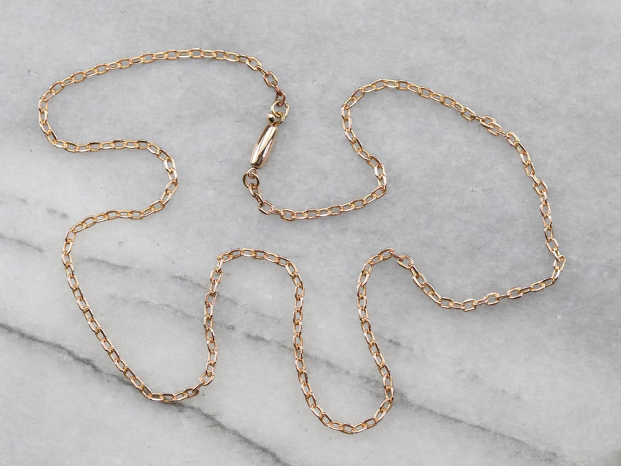 Warm Rose Gold Oval Link Chain