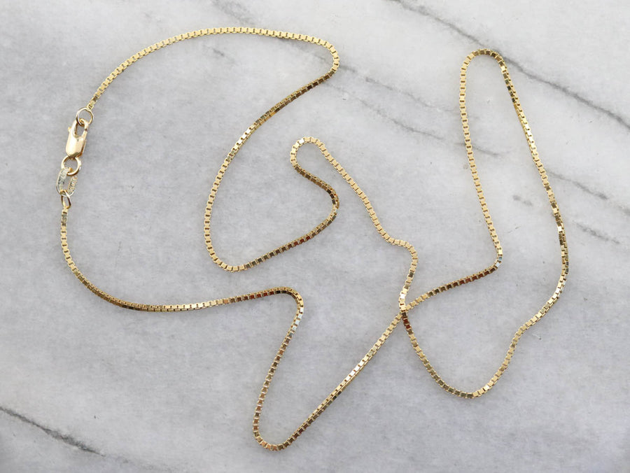 Italian Yellow Gold Box Chain