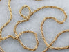 Woven Yellow Gold Wheat Twist Chain