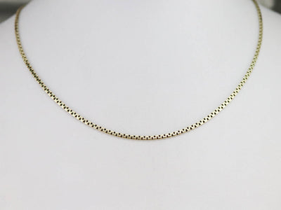 Green Gold Flat Box Link Chain