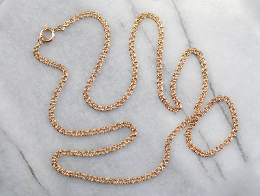 Vintage 800 Gold Double Link Curb Chain