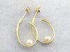 Modernist Pearl Hoop Earrings