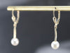 Curved Gold Pearl Drop Earrings