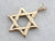 Large Gold Star of David Pendant