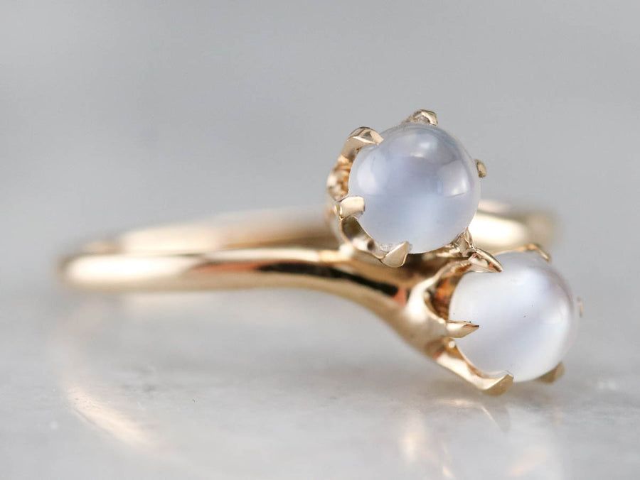Antique Moonstone Bypass Ring