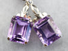 Amethyst White Gold Drop Earrings