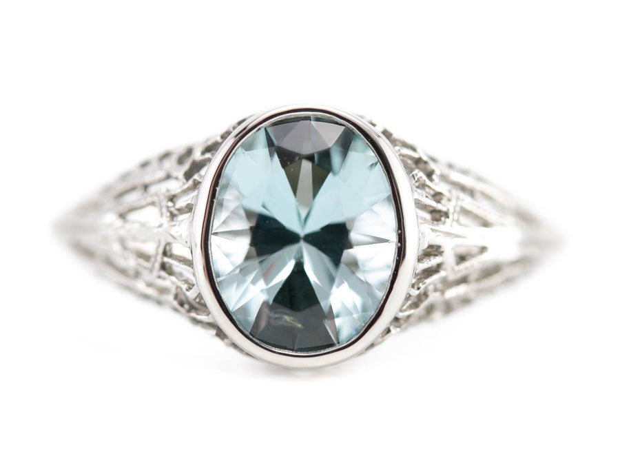 The Nola Aquamarine Solitaire Ring by Elizabeth Henry