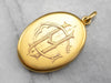 Antique Bloomed Gold Monogrammed Locket