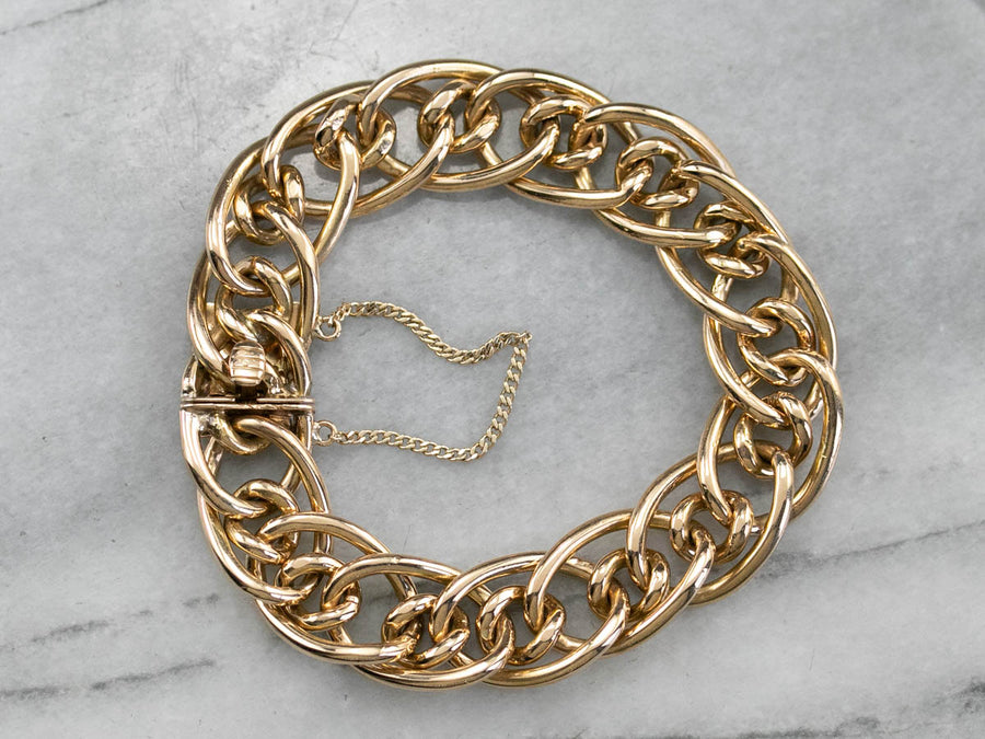 18K Gold Heavy Chain Bracelet