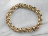 Textured Gold Chain Bracelet