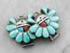 Zuni Sunface Turquoise Watch Tips