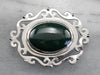 Bloodstone Sterling Silver Belt Buckle