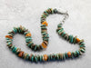 Tumbled Turquoise and Amber Beaded Necklace