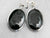 Black Onyx Intaglio Silver Drop Earrings