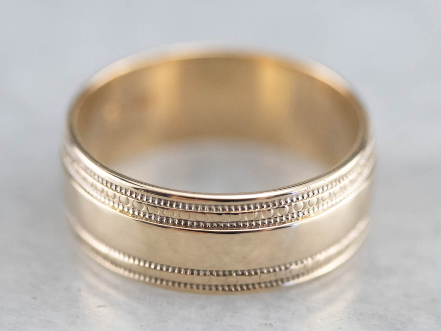 Vintage Yellow Gold Pattern Band