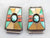 Navajo Turquoise Inlay Silver Watch Tips